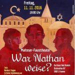 """Plakat des Malteser Fausttheaters Hamm zum Stück """"War Nathan weise?"""""""