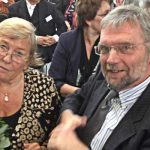 """Festrednerin Carmen Thomas und Horst Delkus von der Loge """"Zur Alten Linde"""""""